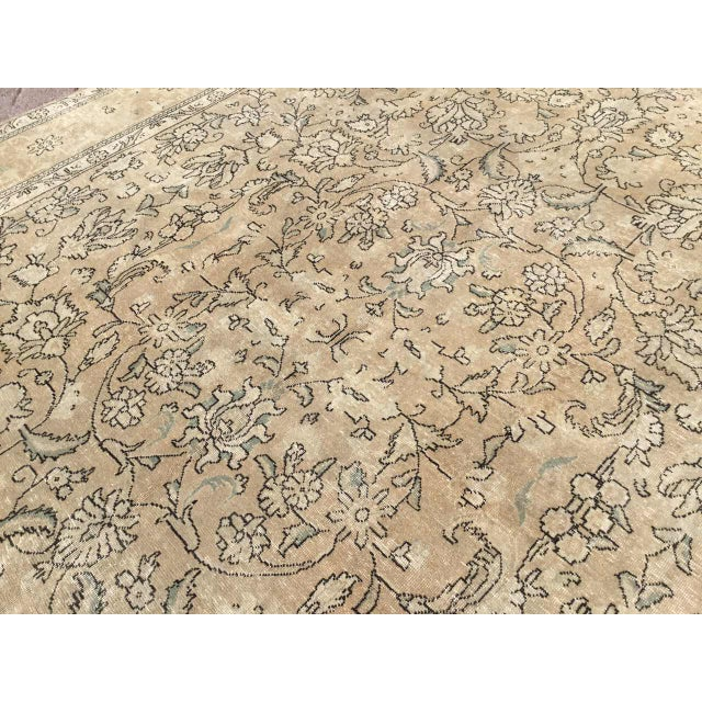 Tan Oversized Antique Oushak Area Rug For Sale - Image 8 of 11