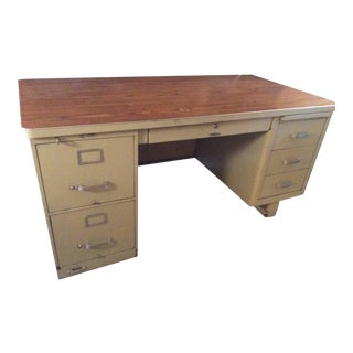 1960s Industrial MacDowel and Craig Tanker Desk For Sale