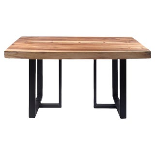 Organic Modern Acacia Live Edge Dining Table For Sale