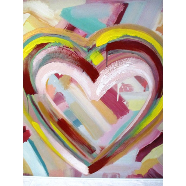 """Happy Heart"" Hand-Embellished Giclee - Image 3 of 11"