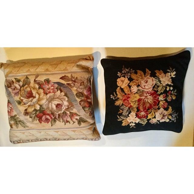 Red Bordeaux Cotton Velvet Damask Chair & a Half For Sale - Image 8 of 10