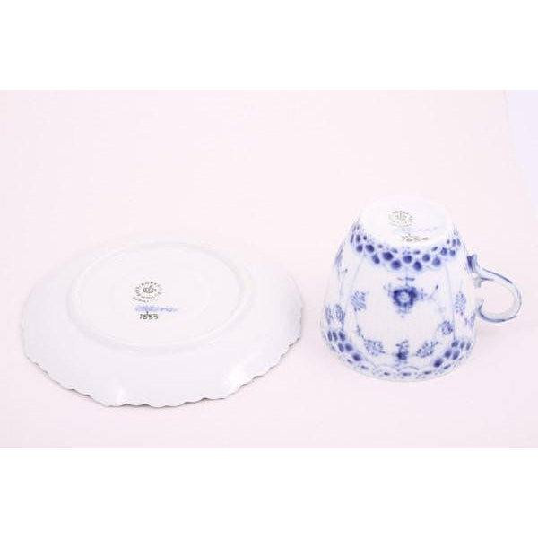 Mid-Century Modern Royal Copenhagen Mini Cup & Saucer - A Pair For Sale - Image 3 of 8