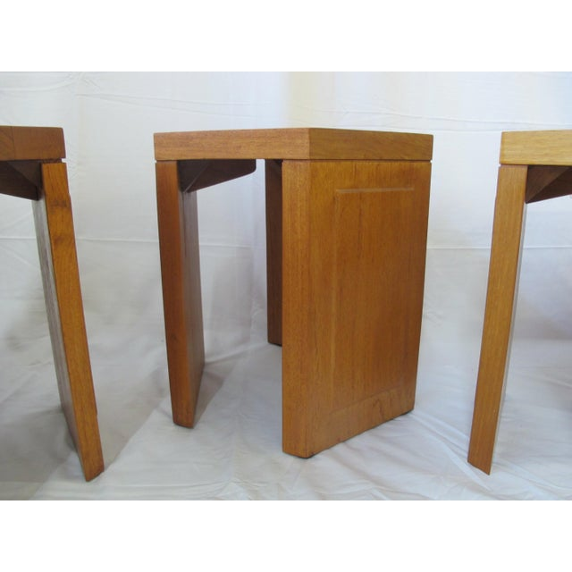 Mid-Century Modern McGuire San Francisco Hexagon Side Tables - Set of 5 For Sale - Image 3 of 10