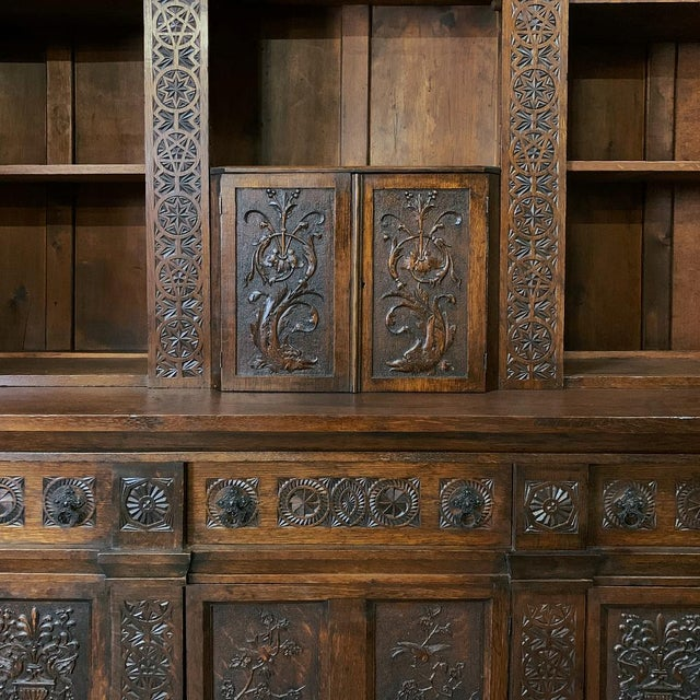 19th Century Renaissance Bookcase For Sale - Image 11 of 13