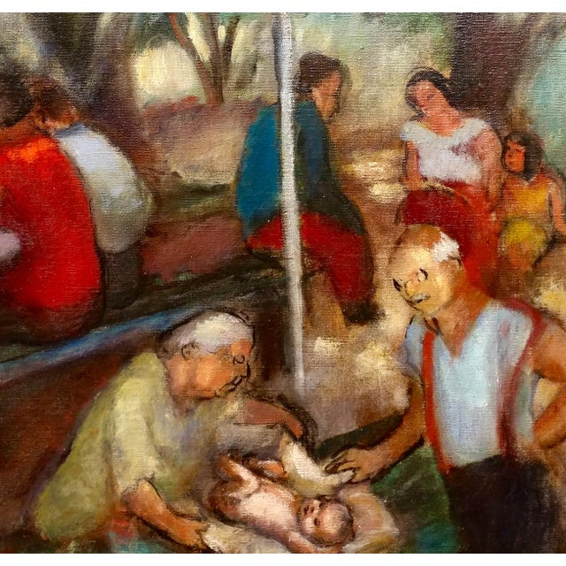 Frances Beatrice Lieberman-1935 Picnic at Alum Rock-Oil Painting-S.F. Museum of Art For Sale In Los Angeles - Image 6 of 10