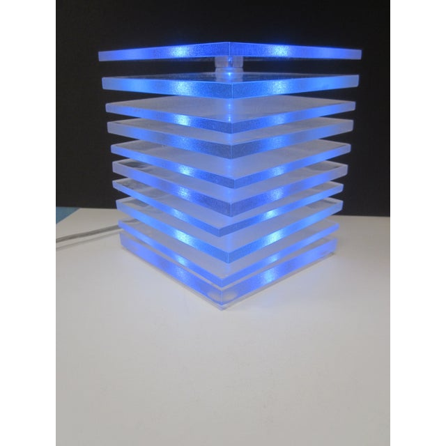 Lucite Plastic Stacking Mood Lamp Light - Image 5 of 9