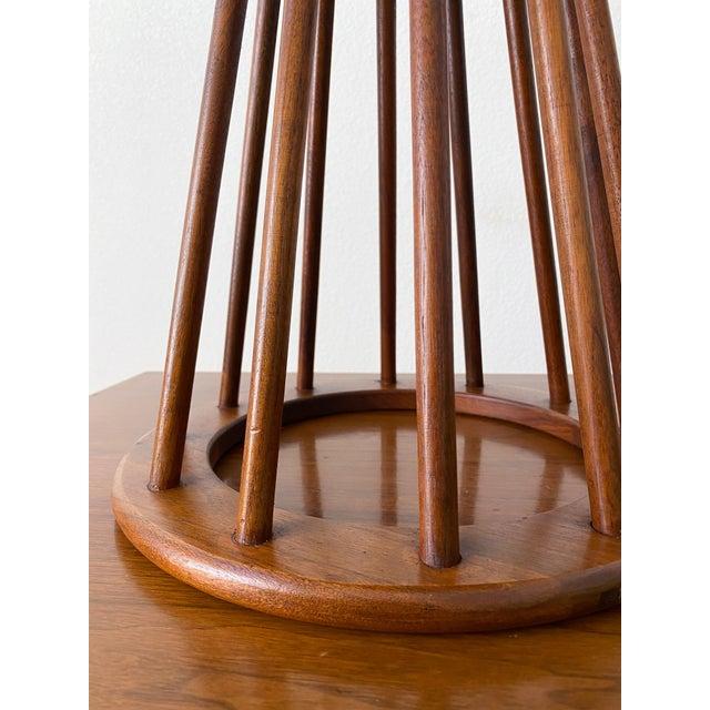 Arthur Umanoff Mid Century Walnut Stool by Arthur Umanoff For Sale - Image 4 of 10