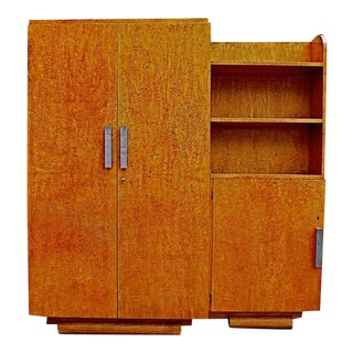 French Art Deco Armoire/Bookcase For Sale