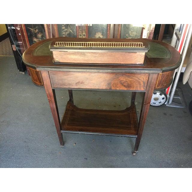 Inlaid Edwardian Desk For Sale - Image 12 of 13