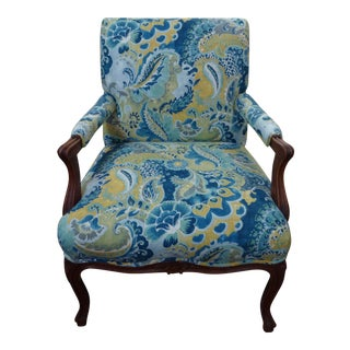 Vintage Paisley Bergere Chair