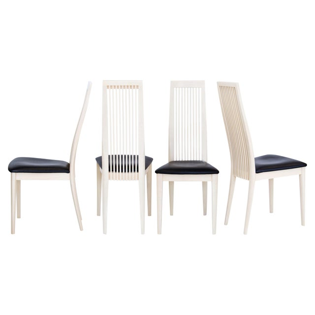 Modern Italian Potocco Tall Dining Chairs, Set of 6 For Sale - Image 3 of 10