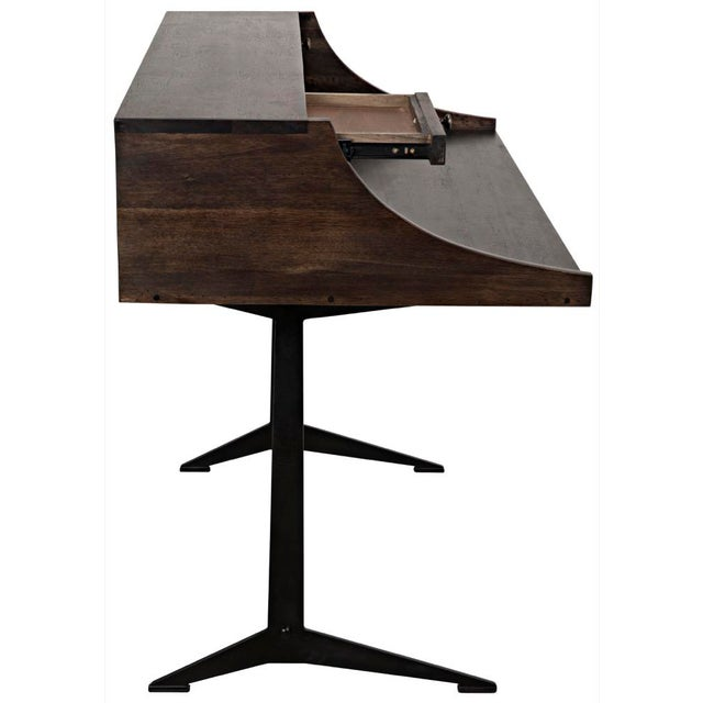 Croft Desk with Metal, Ebony Walnut For Sale - Image 10 of 12