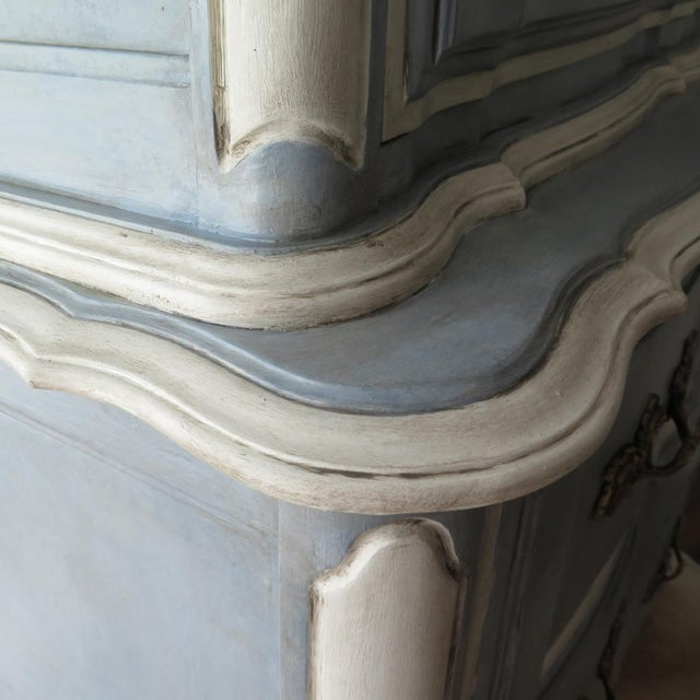 Paint French Provincial Painted Highboy For Sale - Image 7 of 10