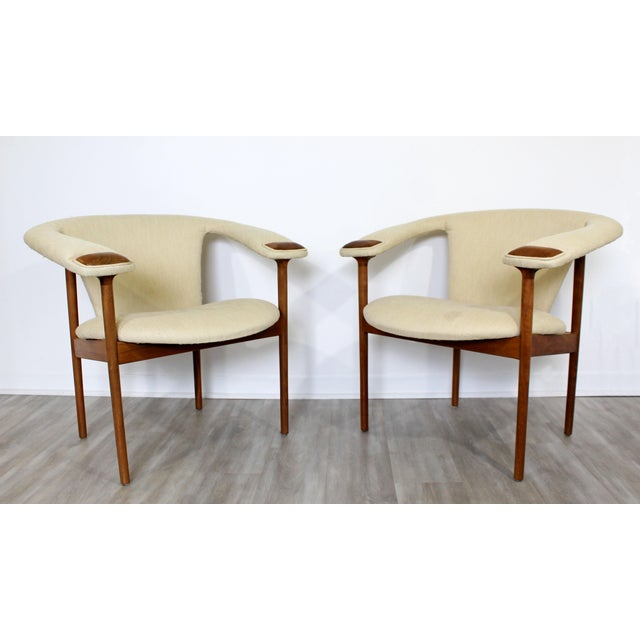 For your consideration is a fantastic, pair of wood, lounge armchairs, by Adrian Pearsall, circa the 1960s 1970s. In very...