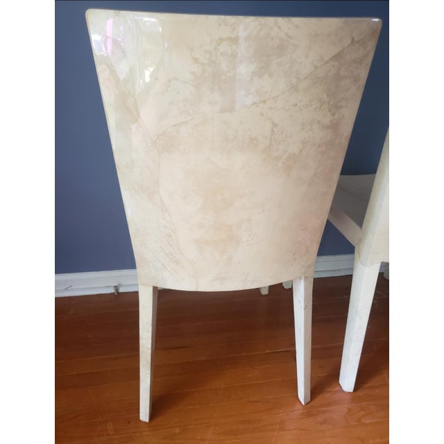 1980s 1980s Vintage Karl Springer Jmf Chairs- A Pair For Sale - Image 5 of 13