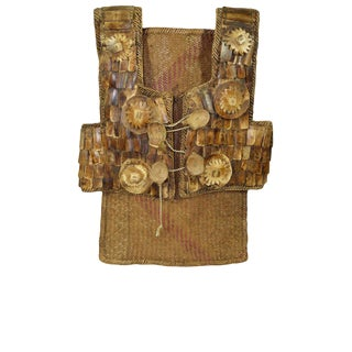 20th Century Dayak Bone & Rattan Chest Plate For Sale