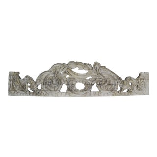 Hand Carved Overdoor/Canopy Fragment C. 1900's For Sale