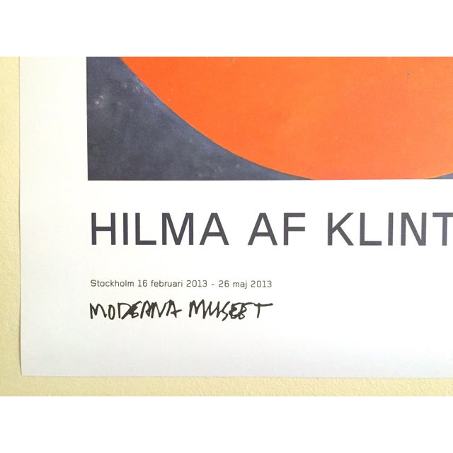 """Black Hilma Af Klint Swedish Abstract Lithograph Print Moderna Museet Exhibition Poster """" the Ten Largest, Childhood No.2 Group IV """" 1907 For Sale - Image 8 of 11"""