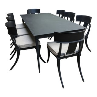 Restoration Hardware Outdoor Dining Table and Chairs For Sale