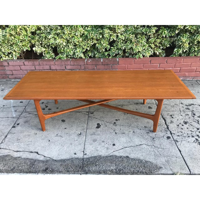 Mid-Century Danish Coffee Table by Dux For Sale - Image 4 of 10