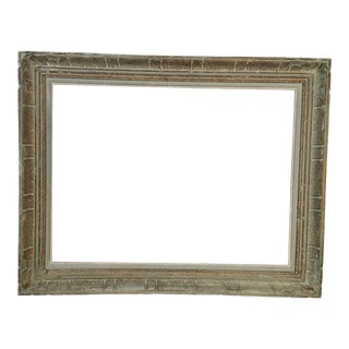 Vintage Blue Painted Picture Frame For Sale