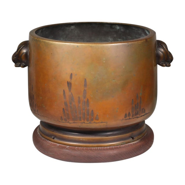 Late 19th-C. Japanese Bronze Hibachi - Image 1 of 3