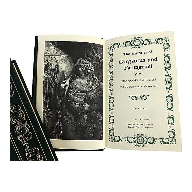The Histories of Gargantua & Pantagruel Vols. 1 & 2/Franklin Library - a Pair For Sale - Image 4 of 10