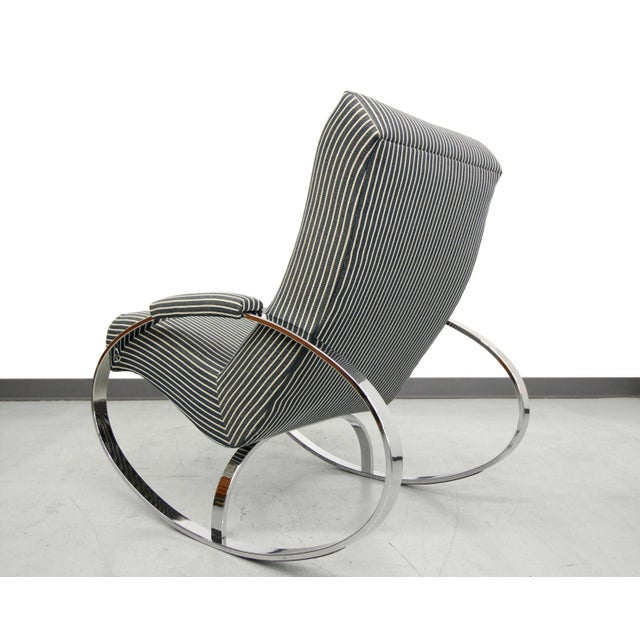 Mid-Century Chrome Rocking Chair by Milo Baughman - Image 4 of 7