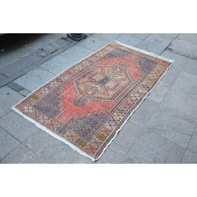 Anatolian Tribal Handwoven Rug - 3′5″ × 6′2″ - Image 3 of 6