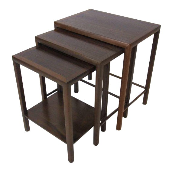 Rosewood and Walnut Nesting Tables - set of 3 For Sale