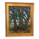 Image of Contemporary Framed Landscape Oil Painting For Sale