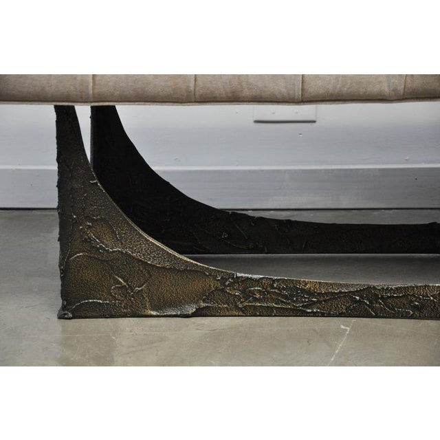 Paul Evans Sculpted Bronze Bench For Sale In Chicago - Image 6 of 8