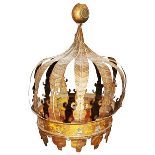19th Century Tole Corona