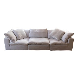 Restoration Hardware Sectional Cloud Couch For Sale