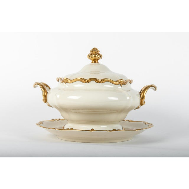 Early 20th Century Antique European Porcelain Covered Tureen For Sale - Image 5 of 5