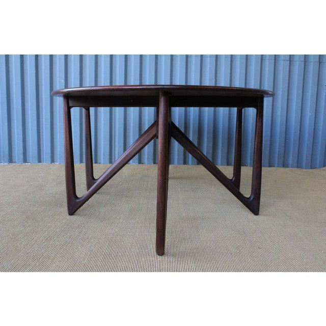 Mid-Century Modern Mid Century Niels Koefoed Rosewood Gate Leg Dining Table, Denmark, 1960s For Sale - Image 3 of 12