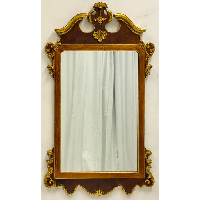 1970s Vintage Decorative Crafts Italian Federal Style Mirror For Sale - Image 5 of 6