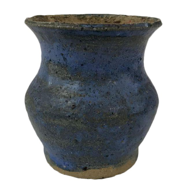 Rustic Blue Clay Vase - Image 1 of 4