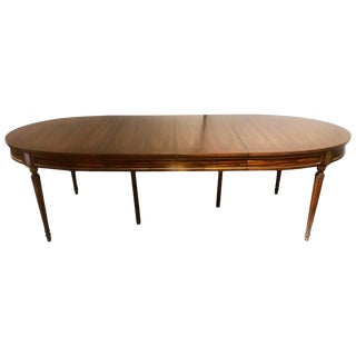 Jansen Louis XVI Style Rosewood Dining Table Conference Table For Sale