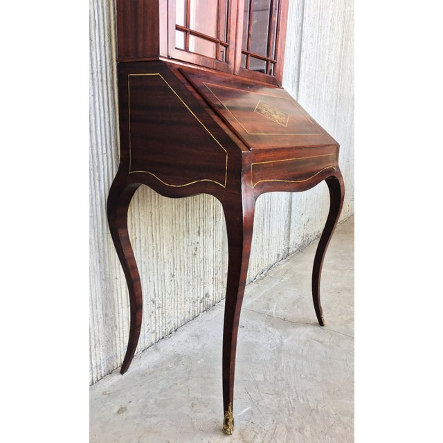 18th Century Louis XVI Style French Inlaid Secretary Desk For Sale In Miami - Image 6 of 13