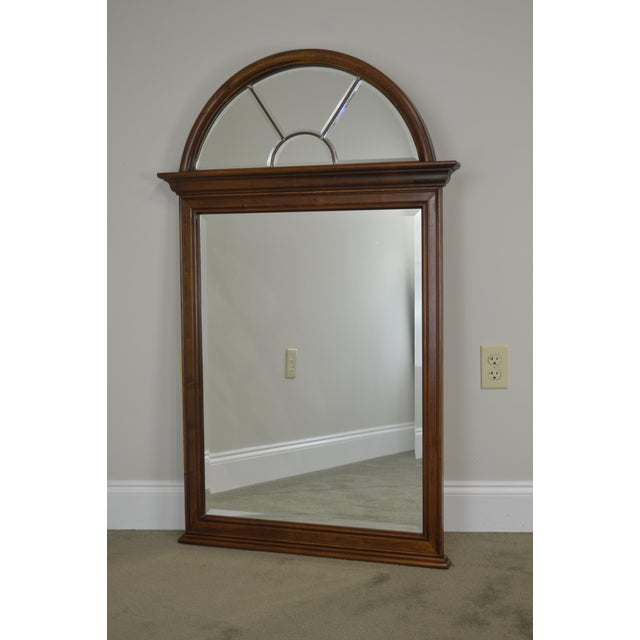 Cherry Wood Lexington Cherry Arch Top Beveled Mirror For Sale - Image 7 of 13