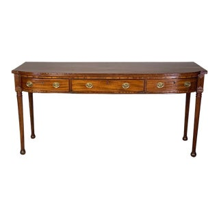 Early 19th Century Regency Period Mahogany Sideboard Table For Sale