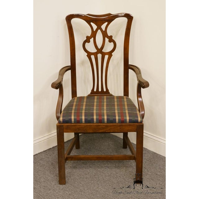 Traditional Late 20th Century Drexel Heritage Chippendale Style Dining Chair For Sale - Image 3 of 13