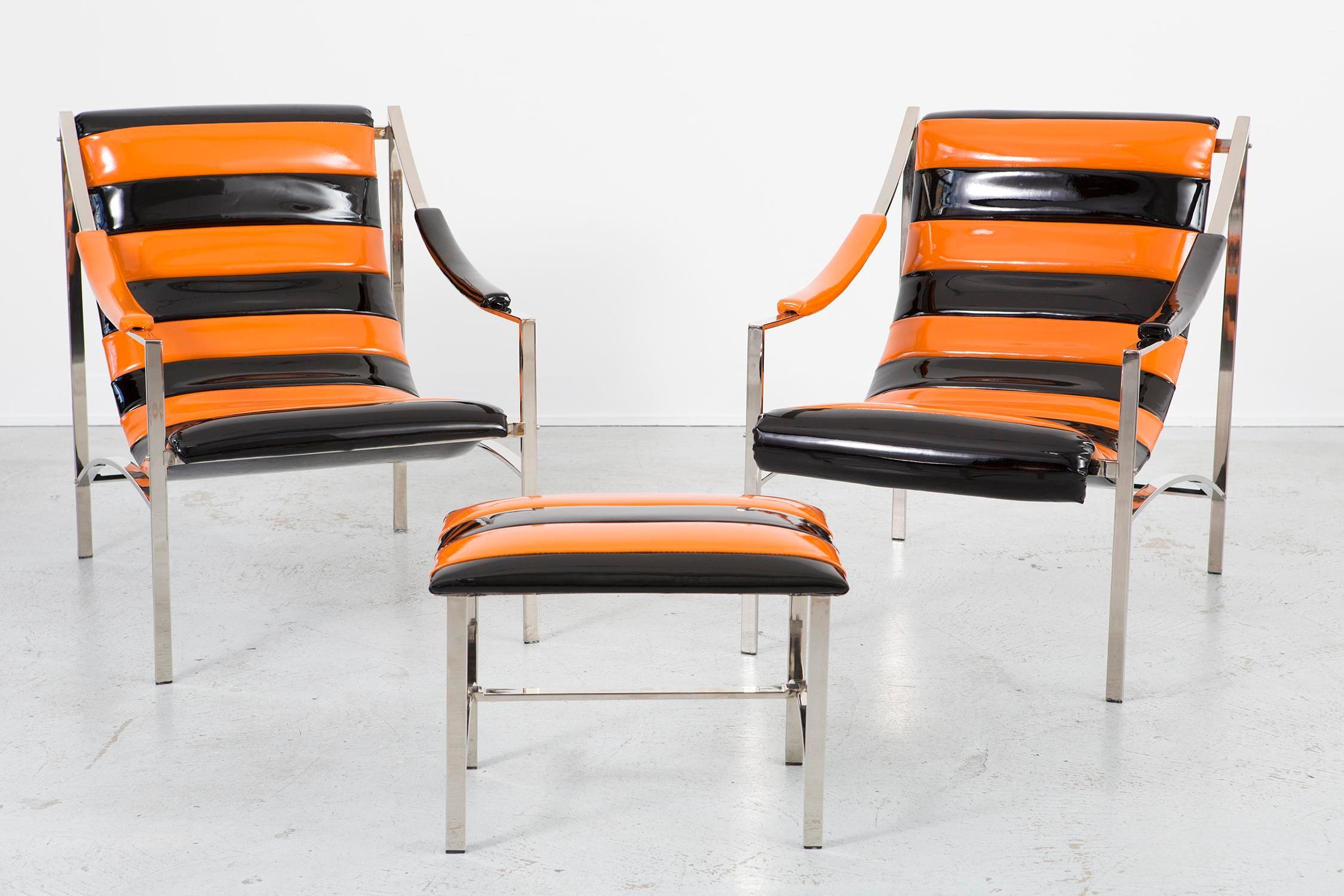 Set Of Otto Berdau Chairs + Ottoman   Image 2 Of 11