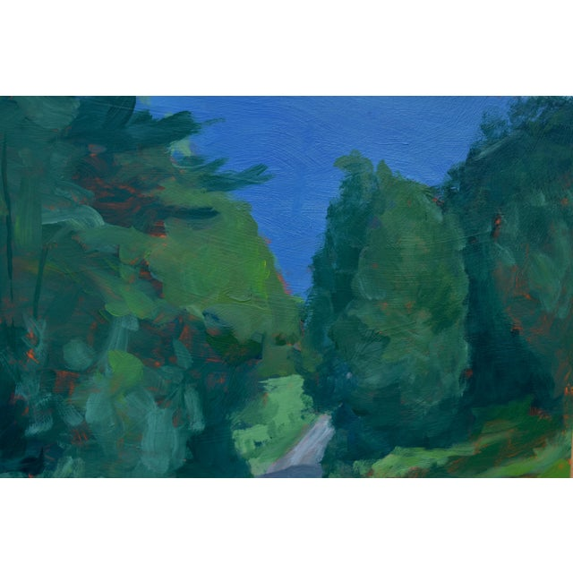 """2010s Stephen Remick """"Vermont Gravel Road With Blue Mountain"""" Contemporary 2010s Landscape Painting For Sale - Image 5 of 10"""