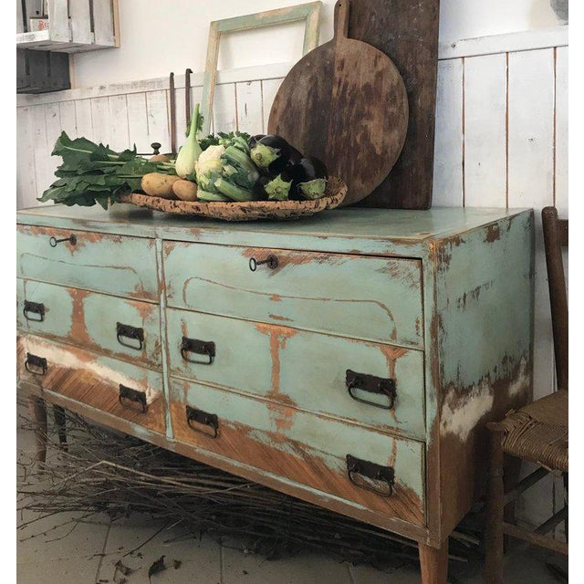 20th Century Italian Vintage Design Lacquered Commode or Chest With Frame For Sale - Image 6 of 13