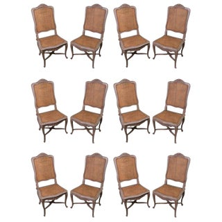 19th Century Painted Dining Chairs - Set of 12