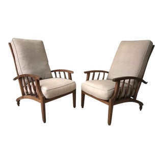 Philip Webb for Morris & Co Style Reclining Armchairs- a Pair For Sale