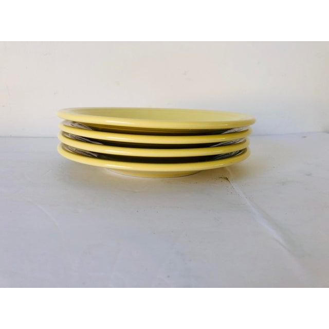 Fiesta Ware s-4 Yellow Bread Plates