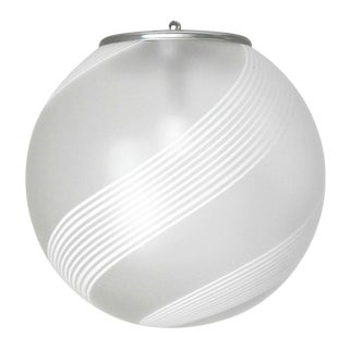 Globe Pendant by Venini For Sale